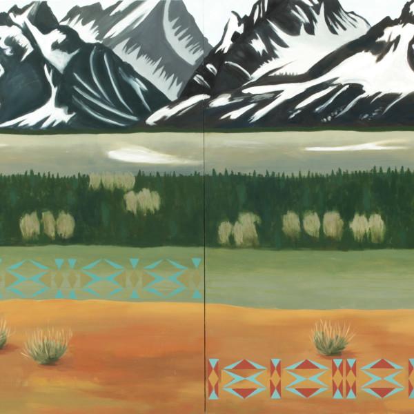 Kay WalkingStick - Teton Snow Ribs, 2019