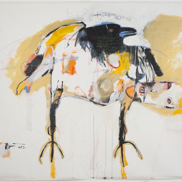 Rick Bartow - Bird Bird Bird Crow Crow, 2013