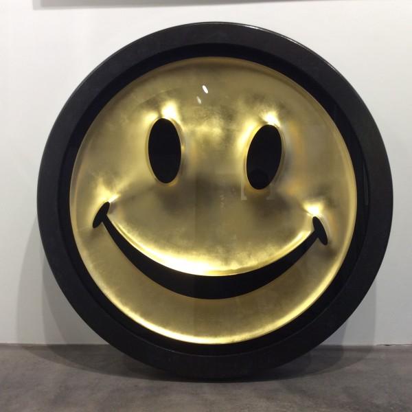 RYCA (Ryan Callanan), Metric Powerpill Gold Smiley Face *new work', 2019