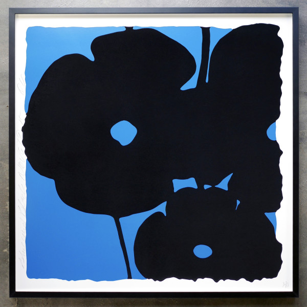 donald sultan, Blue and Black , 2015