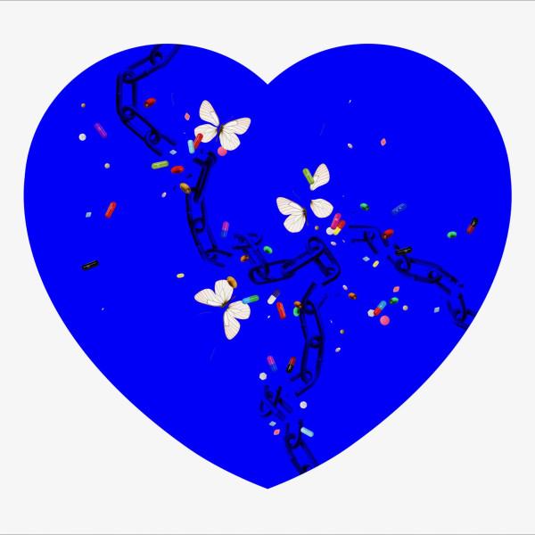 Iain Cadby, Addicted to Love (small Blue) *SOLD*, 2018