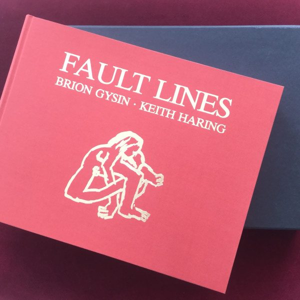 Keith Haring, Fault Lines (hand signed and numbered hard cover book with 52 pages of illustrations. Poems by Brion Gysin), 1986