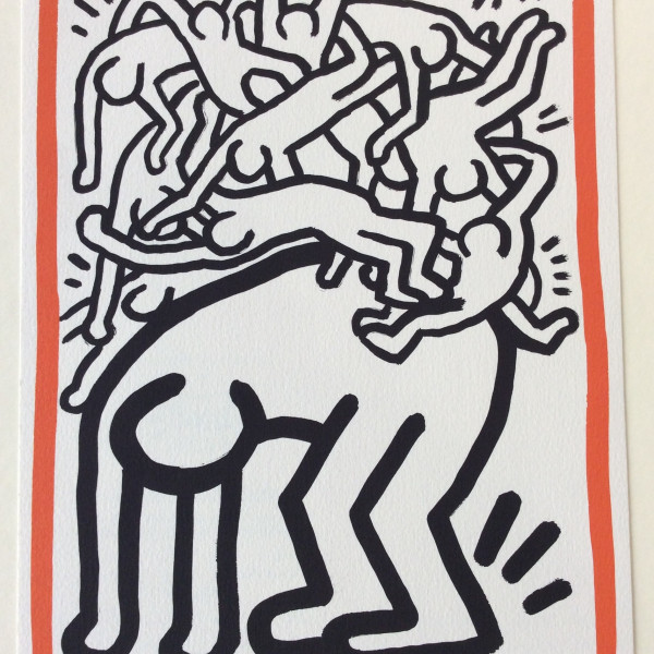 Keith Haring, Fight AIDS Worldwide *SOLD*, 1990