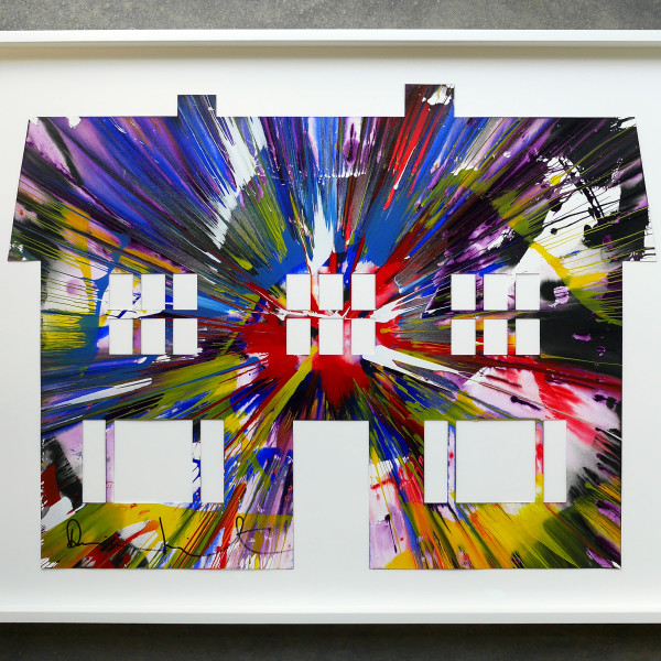 Damien Hirst, Manor House (original spin painting on paper) Hand signed, authenticated *SOLD*, 2009