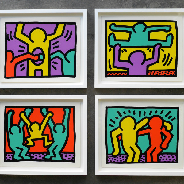 Keith Haring, Pop Shop 1 Complete suite of 4 *SOLD*, 1987