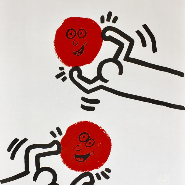 Keith Haring, The Story of Red and Blue (No. 11) *SOLD*, 1989/90