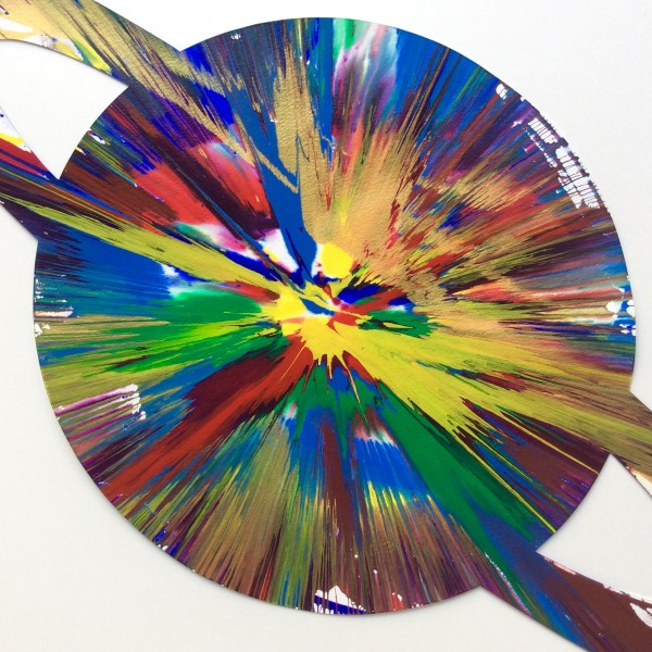 Damien Hirst, Planet Spin Painting original , 2009