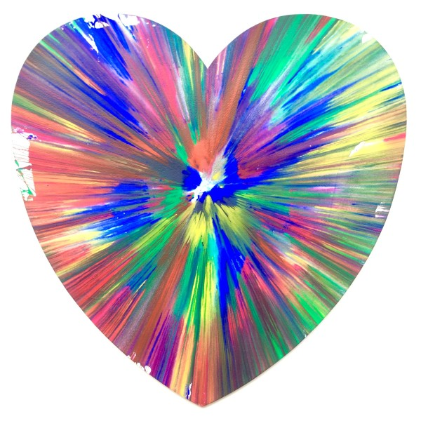 Damien Hirst, Heart Original Acrylic Spin Painting , 2009