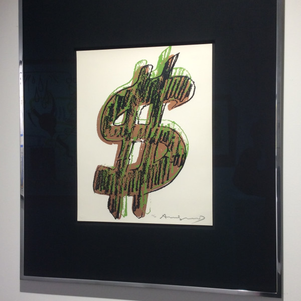 Andy Warhol, $ (1) UNIQUE *SOLD*, 1982
