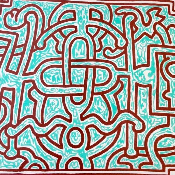 Keith Haring, Chocolat Buddah (No. 5), 1989