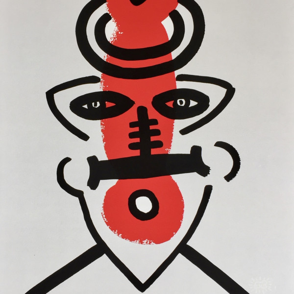 Keith Haring, The Story of Red and Blue (No. 9) *SOLD*, 1989/90