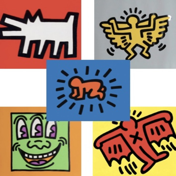 Keith Haring, Icons (Complete Portfolio), 1990