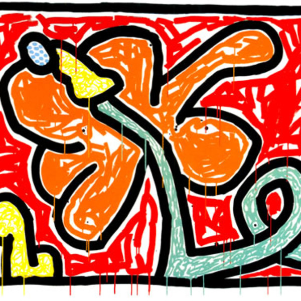 Keith Haring, Flowers 5, 1990