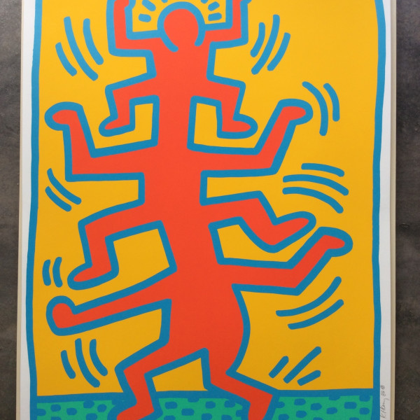 Keith Haring, Growing Number 1 unique Trial Proof *SOLD*, 1988