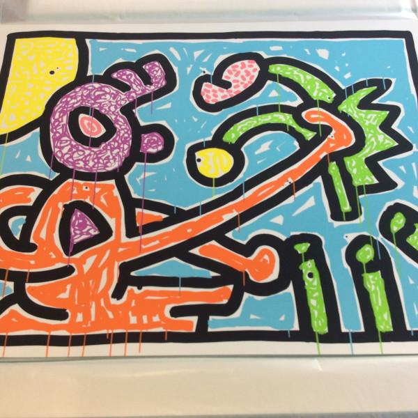Keith Haring, Flowers 1, 1990