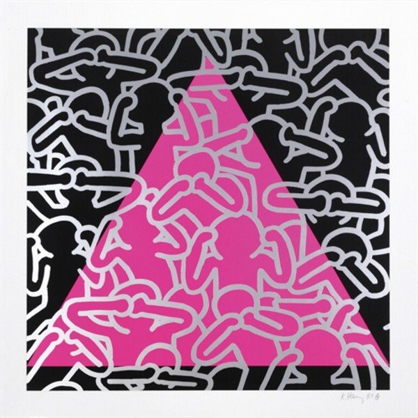 Keith Haring, Silence Equals Death *SOLD*, 1989
