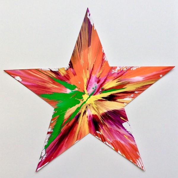 Damien Hirst, Star Original Spin Painting , 2009