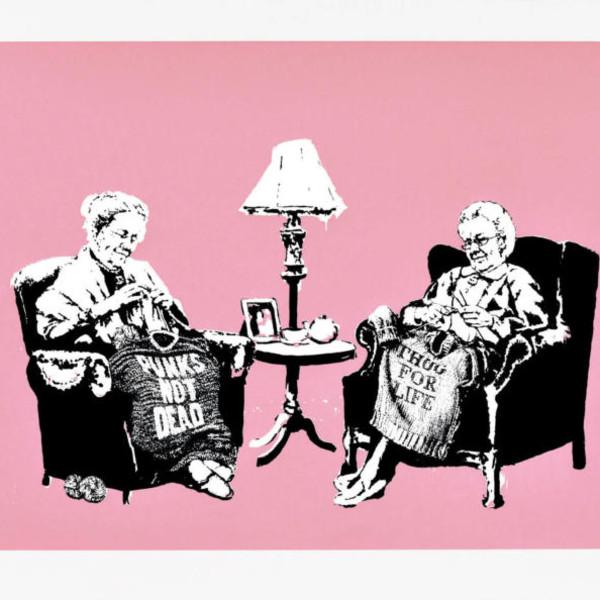 Banksy, Grannies (SIGNED) *SOLD*, 2009