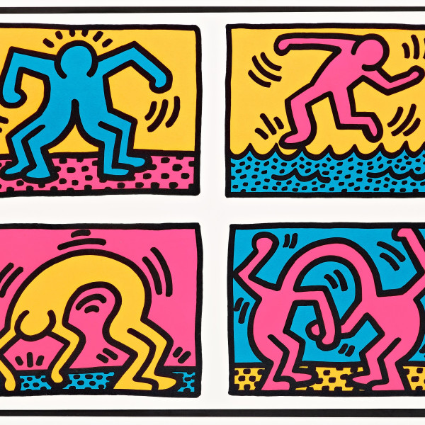 Keith Haring, Pop Shop Quad II (numbered Trial Proof) , 1988