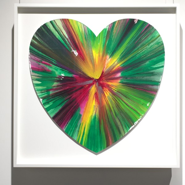 Damien Hirst, Heart Spin painting unique , 2009