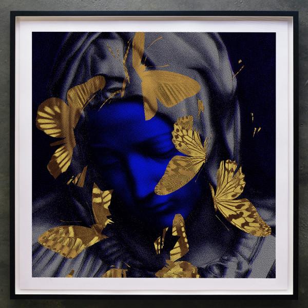 Iain Cadby, Pieta with Butterflies (Lapis with Gold Butterflies) , 2018