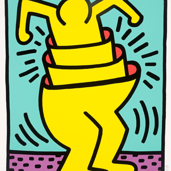 Keith Haring, Untitled (Concentric or Cup Man) , 1989
