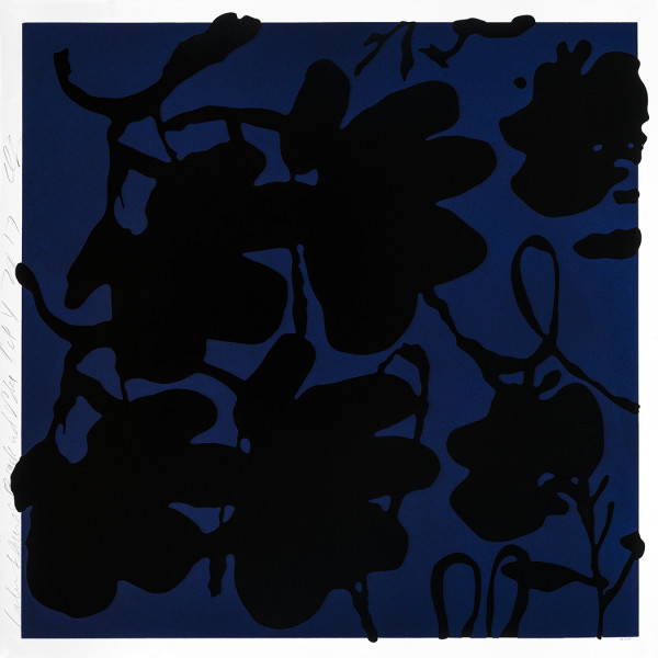 donald sultan, Lantern Flowers, Black and Blue *SOLD*, 2017