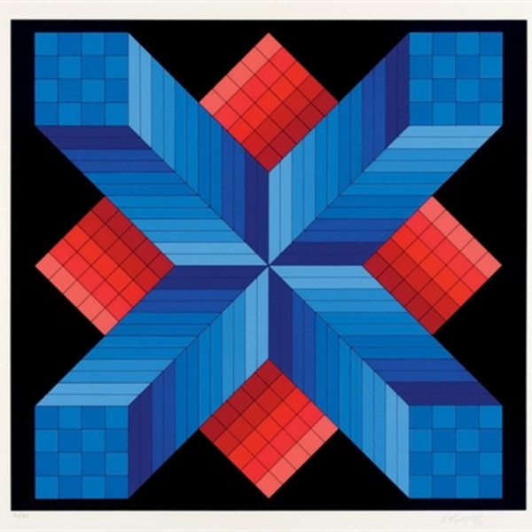 Victor Vasarely, From the Vancouver portfolio (also available as a complete suite), 1982