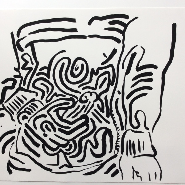 Keith Haring, BAD BOYS, Number 6, 1986, 1986
