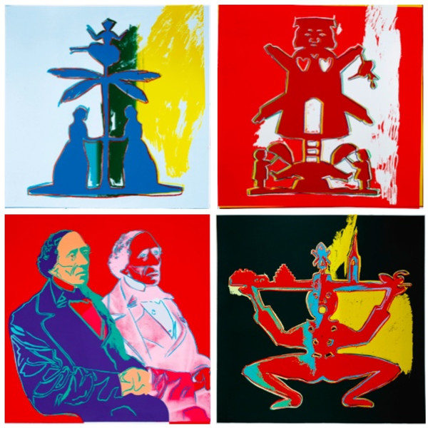 Andy Warhol, Hans Christian Andersen (Unique Complete Set of Four), 1987