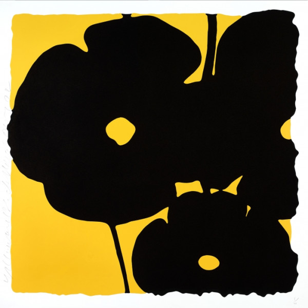 donald sultan, Yellow and Black *SOLD*, 2015