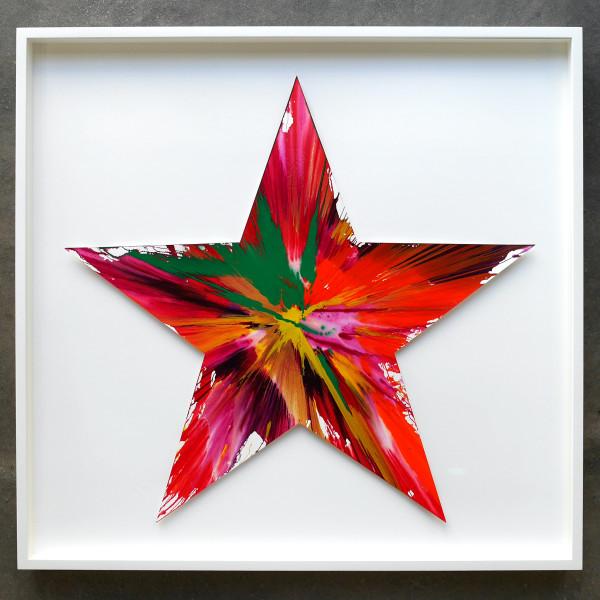 Damien Hirst, Star (Original Spin Painting) *SOLD*, 2009