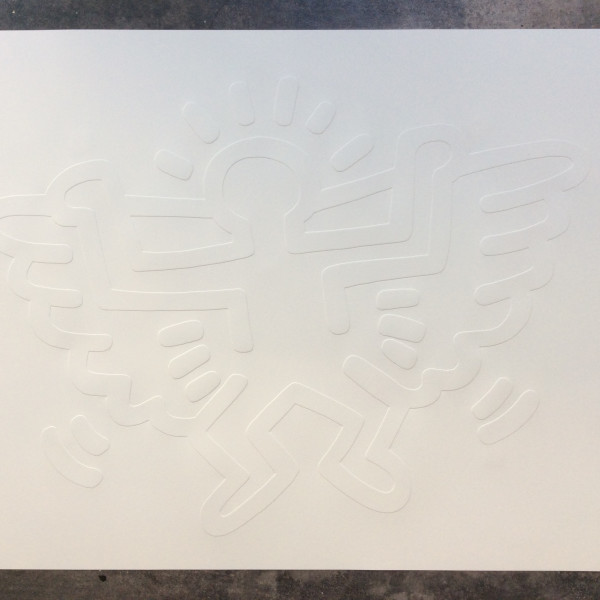 Keith Haring, White Icons, Angel , 1990