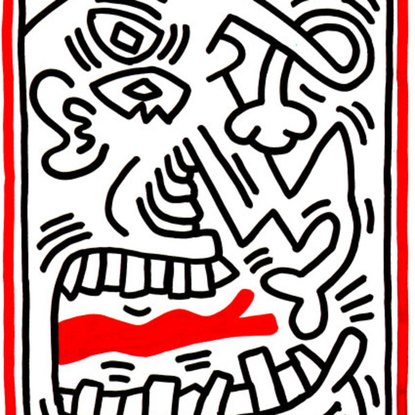 Keith Haring, 3 Lithographs (Picasso Tongue), 1985