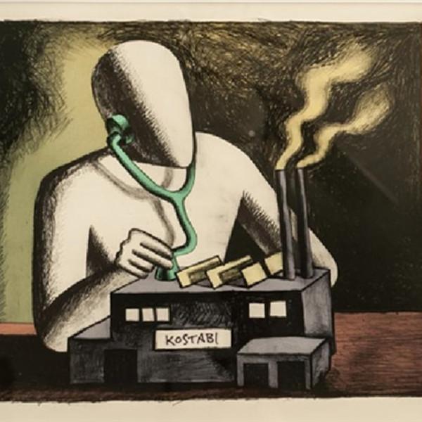 Mark Kostabi, kostabi Factory, 1985