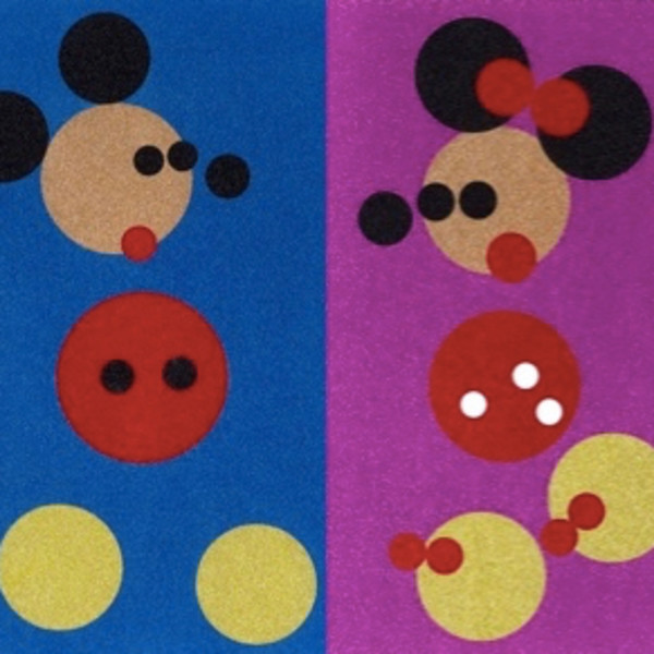 Damien Hirst, Glitter Mickey and Minnie (small), 2016
