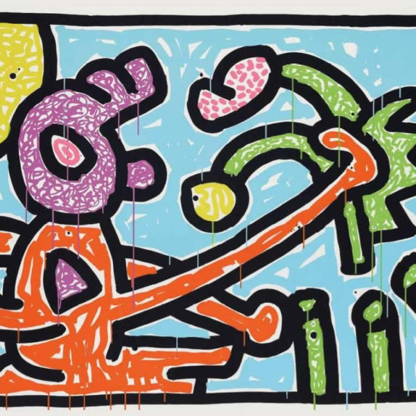 Keith Haring, Flowers 1, 1990