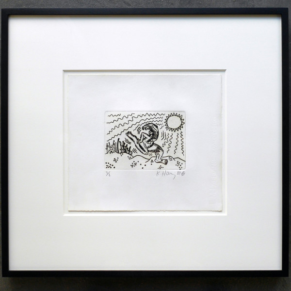 Keith Haring, Untitled etching (RARE EDITION OF JUST 6), 1989