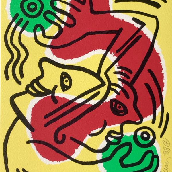 Keith Haring, International Volunteer Day, 1988