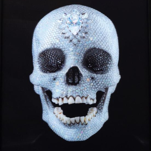Damien Hirst, For The Love Of God (lenticular) hand embellished, 2012