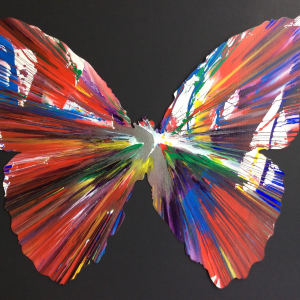 Damien Hirst, Butterfly (original spin painting on paper) *SOLD*, 2009