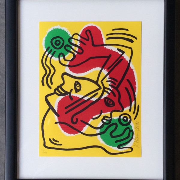 Keith Haring, Untitled (United Nations 1988), 1988