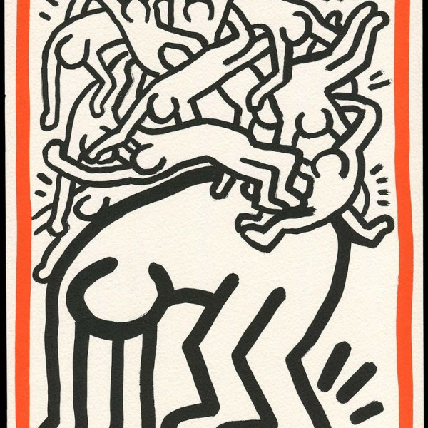Keith Haring, Fight AIDS Worldwide, 1990