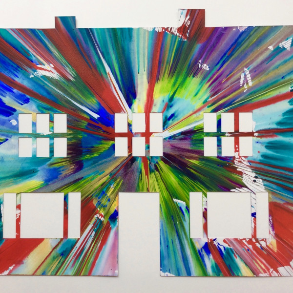 Damien Hirst, Manor House (original spin painting on paper) , 2009