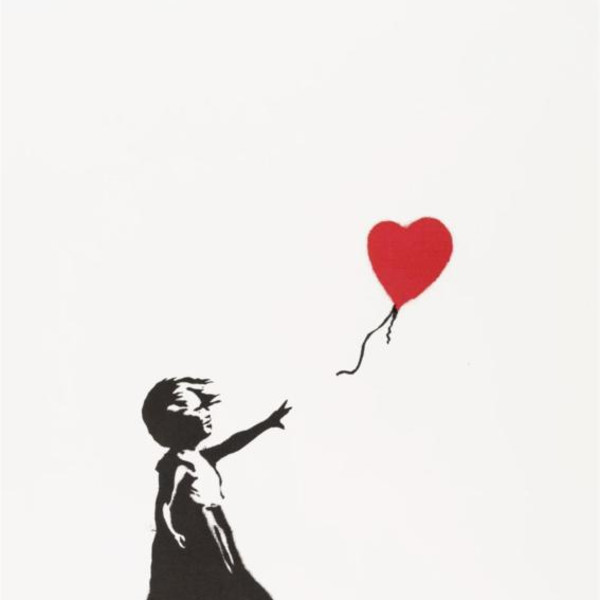 Banksy, Girl with Balloon (SIGNED) *SOLD*, 2006