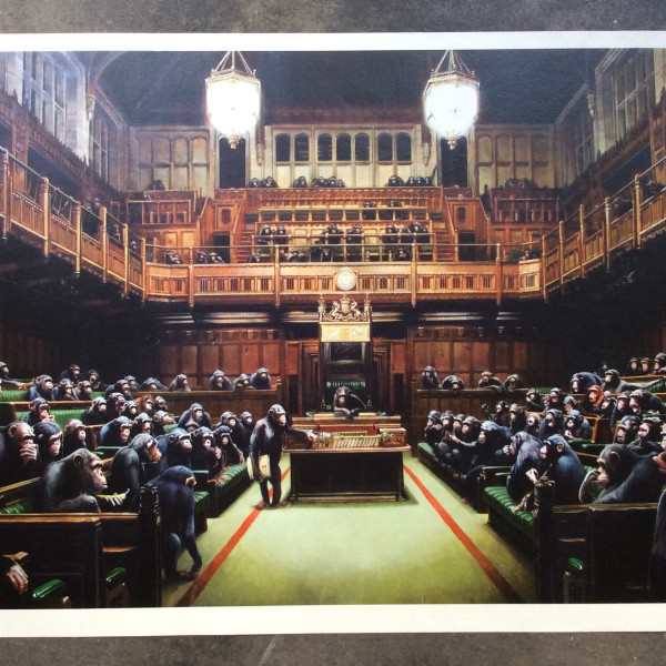 Banksy, Monkey Parliament *SOLD*, 2009