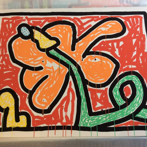Keith Haring, Flowers 5, 1990