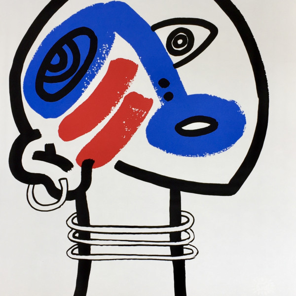 Keith Haring, The Story of Red and Blue (No. 17) *SOLD*, 1989/90