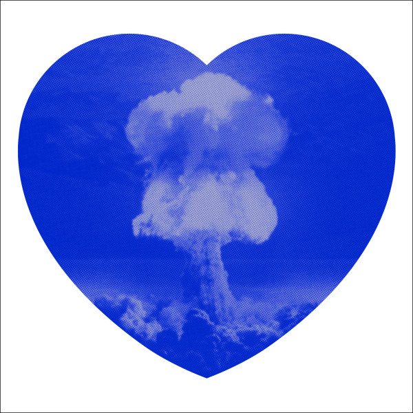 Iain Cadby, Love Bomb (Blue and Silver), 2019