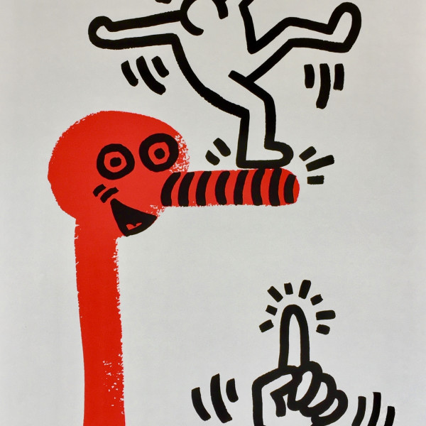 Keith Haring, The Story of Red and Blue (No. 1) *SOLD*, 1989/90